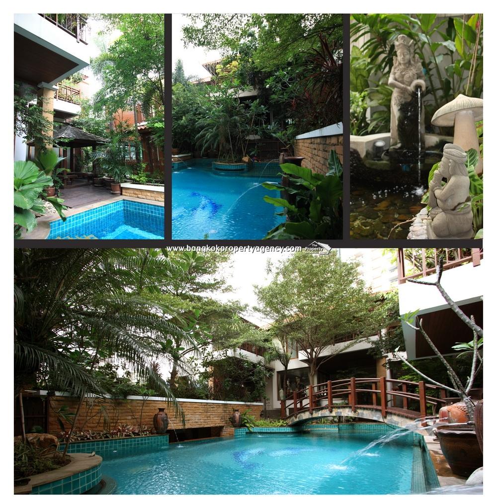 Resort / House in Central Bangkok Sukhumvit 24 with swimming pool
