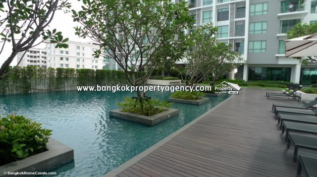 The Room Sukhumvit 62: 1 bed 45 sqm fully furnished condo, next to BTS