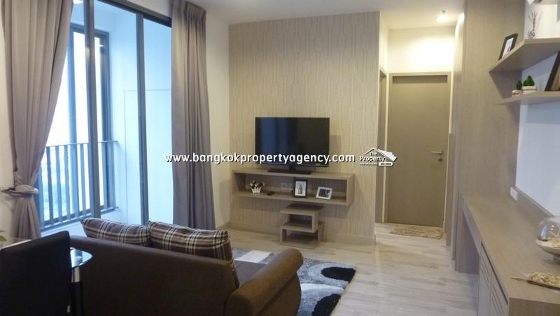 Ideo Mobi Sukhumvit 81: 2 bed fully furnished on high floor close to BTS.