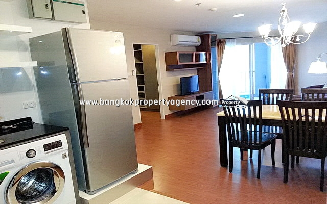 Belle Grand Rama 9: 2 bed 58 sqm unit, well furnished/unblocked view
