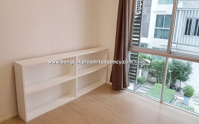 A Space Asoke-Ratchada: 2 bed 53 sqm partially furnished/garden view