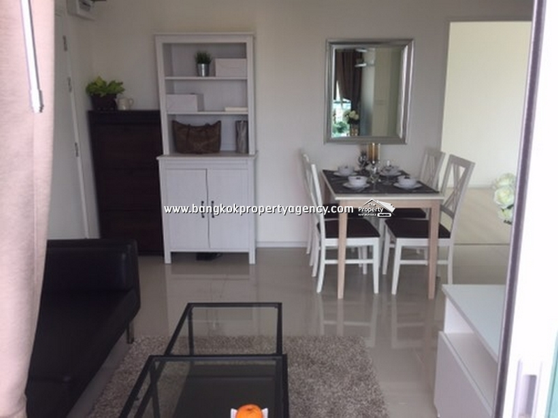 Aspire Sukhumvit 48: 2bed 54 sqm high floor well decorated close to BTS