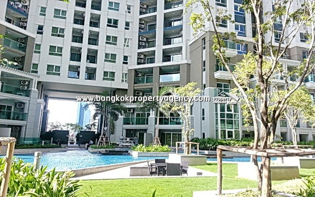 Belle Grand Rama 9: 2 bed 69 sqm fully furnished unit with unblocked view