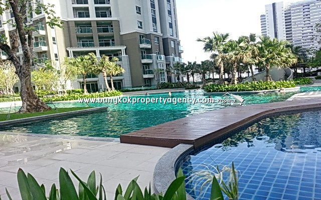 Belle Grand Rama 9: 3 bed 101 sqm fully furnished unit with city view
