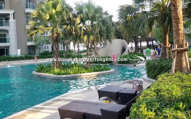 Belle Grand Rama 9: 2 bed 89 sqm fully furnished unit on high floor/city view