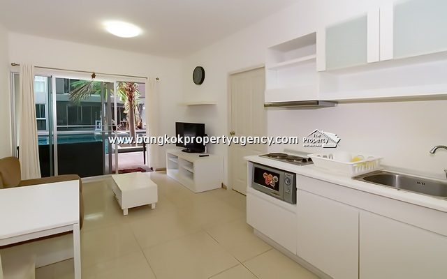 A Space Asoke-Ratchada: 2 bed 76 sqm fully furnished/pool terrace
