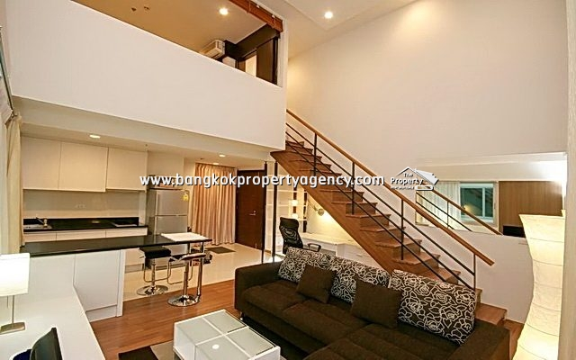 The Rajdamri: 1 bed 58 sqm furnished duplex, high floor/central location