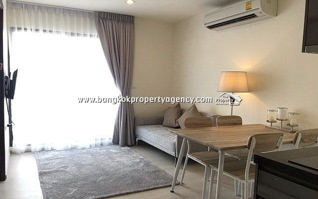 Rhythm Asoke 1: New 2 bed 42 sqm furnished corner unit on high floor