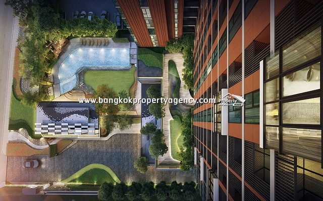 The Base Garden Rama 9: Brand new 1 Bed 27 sqm/high floor, ready for transfer