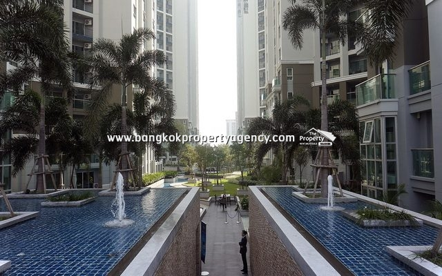 Belle Grand Rama 9: 2 bed 77 sqm fully furnished unit with pool view