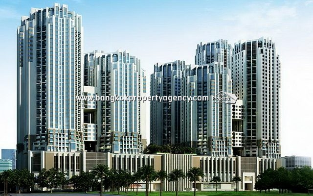 Belle Grand Rama 9: 2 bed 58 sqm well furnished unit with pool/garden view