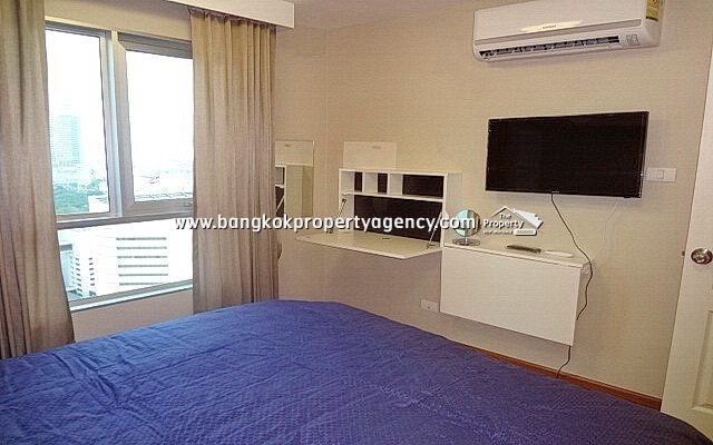 Belle Grand Rama 9: 1 bed 43 sqm fully furnished unit on high floor