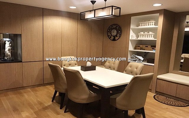 Belle Grand Rama 9: 3 bed 101 sqm well furnished unit with city view