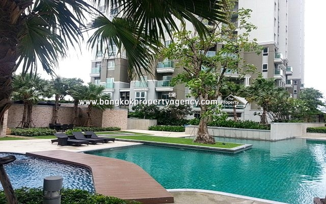 Belle Grand Rama 9: 2 bed 58 sqm fully furnished condo on high floor