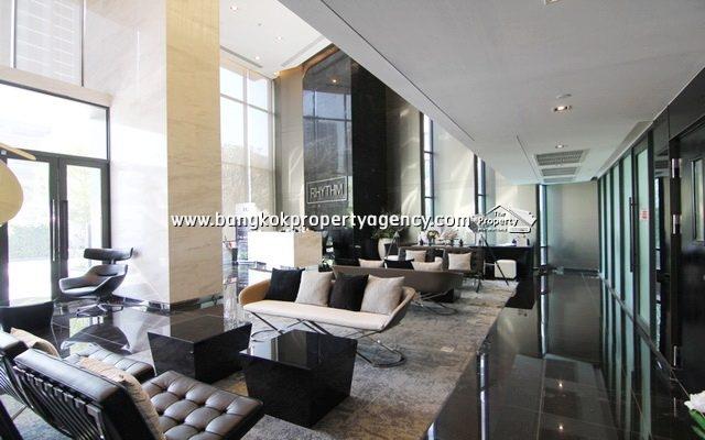Rhythm Asoke: 22 sqm fully furnished studio unit with city view