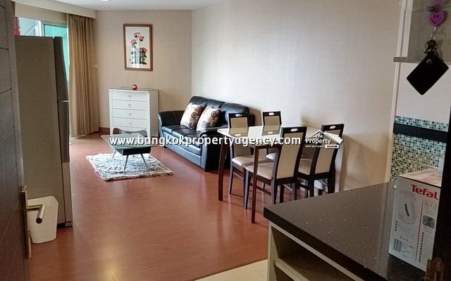 Belle Grand Rama 9: 1 bed 48 sqm fully furnished unit/unblocked city view