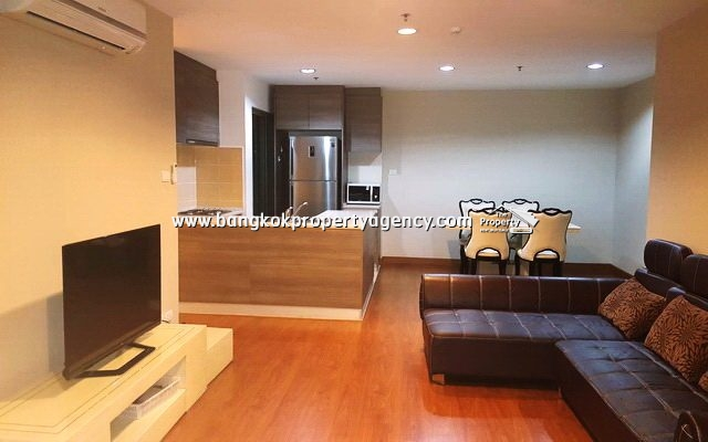 Belle Grand Rama 9: 2 bed 78 sqm fully furnished condo with pool view