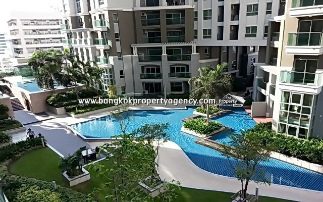Belle Grand Rama 9: 2 bed 58 sqm fully furnished, high floor/pool view