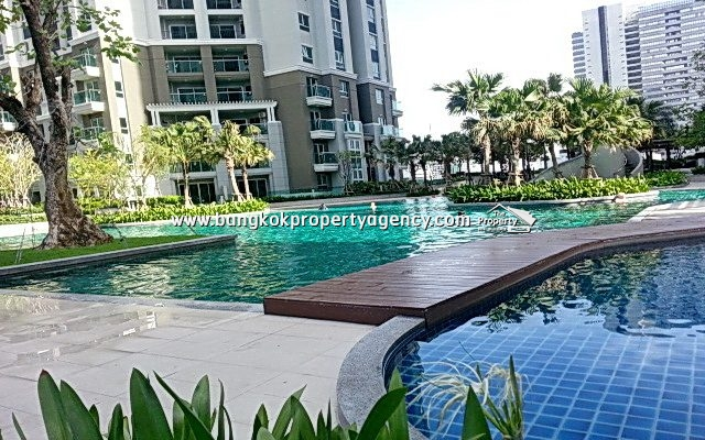 Belle Grand Rama 9: 2 bed 78 sqm fully furnished unit with pool/garden views